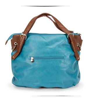 Turq Large Handbag W/ Studs Turq