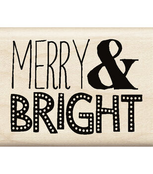 Inkadinkado® Mounted Rubber Stamp-Merry & Bright