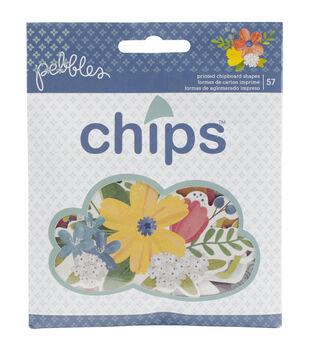 Pebbles Homegrown Ephemera Printed Chipboard Pieces