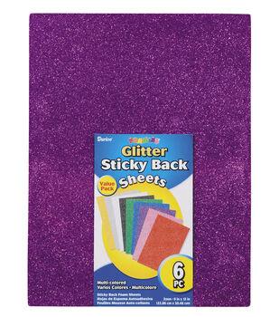 Foamies Glitter Sheet, 9 x 12 inches,  6 Pcs