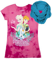 Disney Frozen Girls & Olaf Shirt with Scarf, , hi-res