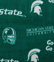 Michigan State University NCAA  Fleece Fabric, , hi-res
