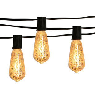 Hudson 43™ Candle & Light Collection Mercury Silver Edison Bulb String Lights