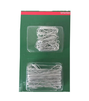 Holiday Cheer Metal Ornament Hook-Silver-150 Piece