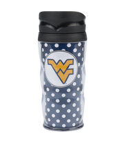 West Virginia University NCAA Polka Dot Travel Mug, , hi-res