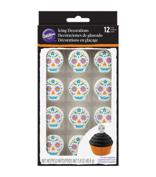 Wilton® Royal Icing Decorations 12/Pkg-Day Of The Dead Skulls