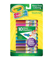 Crayola Color Wonder Mini Markers -10/Pkg, , hi-res