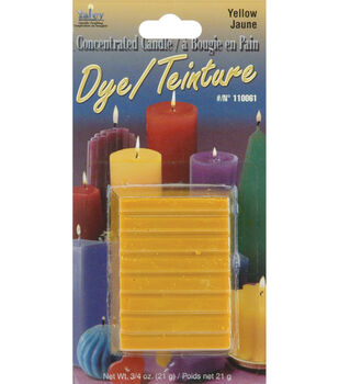 Concentrated Candle Dye .75oz Blocks-Yellow