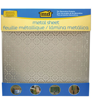 "Silver Colored Metal Sheet 12""X12""-Mosaic"