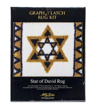 "Latch Hook Kit 27""X20""-Star Of David"