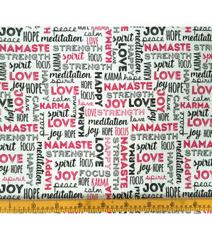 Doodles Juvenile Apparel Fabric-Namaste Interlock