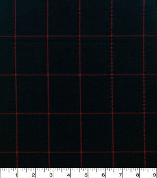 Perfectly Plaid Fabric-Suiting Black Red