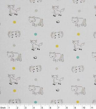 Nursery Flannel Fabric-Soft Woodlands
