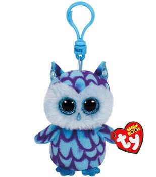 Ty Beanie Boos Oscar The Blue Purple Owl Clip