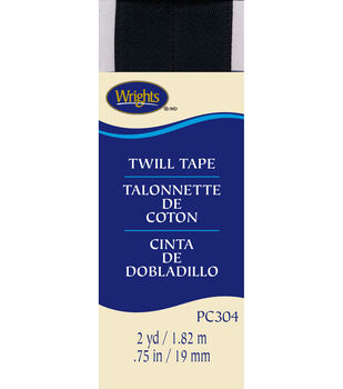 "Wrights Twill Tape-3/4"" x 2yds Black"
