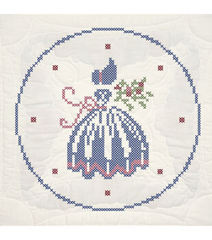 Fairway Stamped Cross Stitch Quilt Blocks Lady