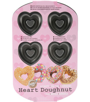 Wilton® Heart Donut Pan 6 Cavity