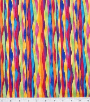 Quilter's Premium Cotton Fabric-Ener Geo Stripe Brights