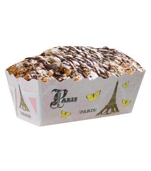 12pk Paris Mini Loaf Baking Pans-Pink