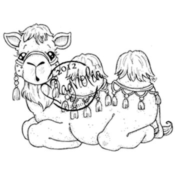 Magnolia Nativity Cling Rubber Stamp Jacob The Camel