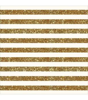 "Homemade Specialty Cardstock 12""X12""-Cream W/Glitter Stripe"