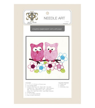 Truly Yours™ Needle Art Stamped Embroidery Kit- Owls