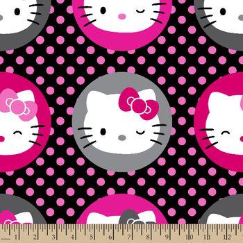 Hello Kitty Dots Minky Fabric