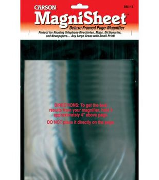 """Magnisheet Full-Page Magnifier-10-3/4""""X8-1/4"""""""
