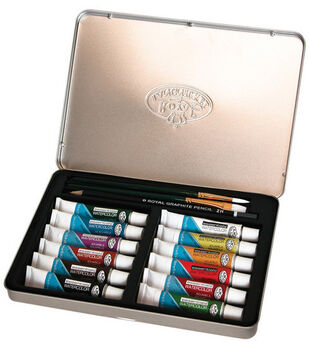Watercolor Paint Art Kit With Tin 8-1/2''x6''