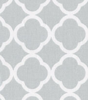 Keepsake Calico™ Cotton Fabric-Quatrefoil Gray&White, , hi-res