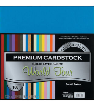 "Core'dinations Value Pack Cardstock 12""X12"" 100/Pkg-World Tour-Smooth"