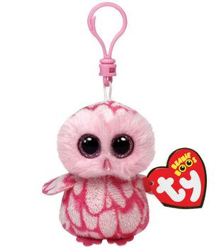 Ty Beanie Boos Pinky the Barn Owl Clip