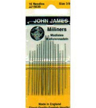 Milliners/Straw Hand Needles-Size 3/9 16/Pkg