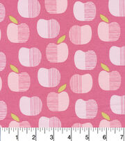 Cloud 9 Premium Cotton Fabric-Apples Pink, , hi-res