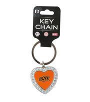 Oklahoma State NCAA Heart Keychain, , hi-res