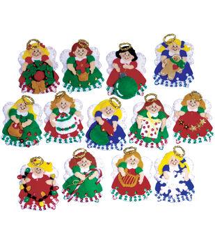 Tobin Ornaments Felt Applique Kit Angels