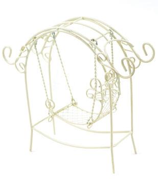 Fairy Garden Arch With Swing-Cream