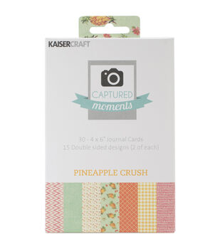 "Captured Moments Double-Sided Cards 6""X4"" 30/Pkg-Pineapple Crush"