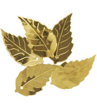 Sequin Leaf Gold Lg