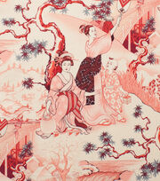 Alexander Henry Cotton Fabric-Four Seasons Red                        , , hi-res