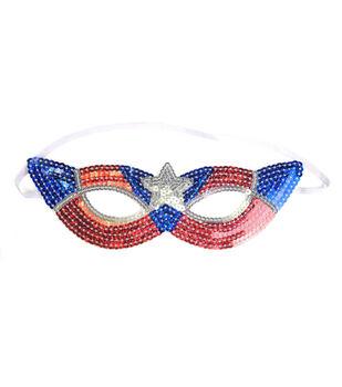 Maker's Halloween Children's Mask-Patriotic Superhero