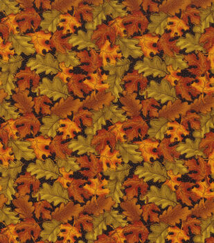 Autumn Inspirations Fabric-Tossed Leaves