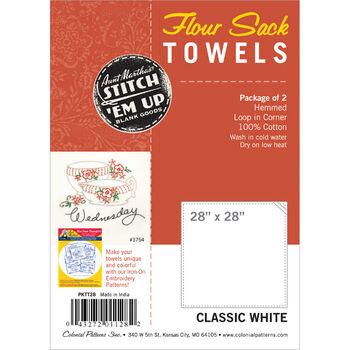 "Flour Sack Towels 28""X28"" 2/Pkg-White"