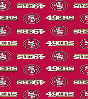 San Francisco 49ers NFL Ultra Fluffy Fleece Fabric by Fabric Traditions, , hi-res