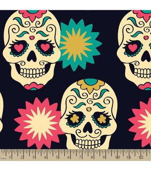 Blizzard Fleece Fabric-Festival Skulls