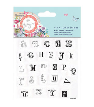 Papermania Bellissima Alphas Clear Stamps