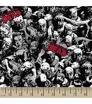 The Walking Dead Packed Zombies Poly Spandex Fabric, , hi-res