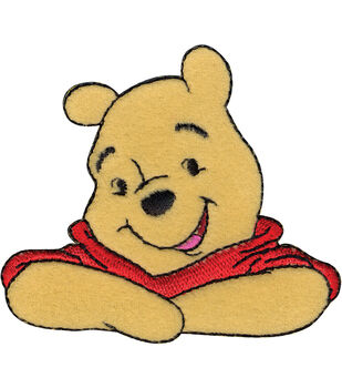 """Disney Winnie The Pooh Iron On Applique-3""""X2-5/8"""" 1/Pkg"""