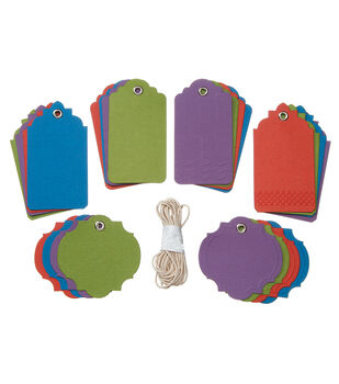 Core'dinations Tags:  Darks Assortment with String; 24 pack