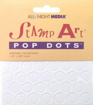 "Stamp Art Pop Dots 1/2""X1/8"" Thick"